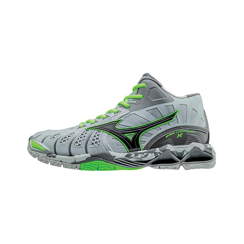 harga Mizuno Wave Tornado X MID High Rise Sepatu Olahraga - Black Green  Gecko V1GB161709 Blibli 6c03d18714