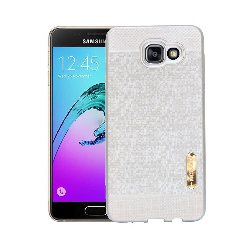 Motomo Softcase Casing for Samsung A7 2016 A710 - Silver