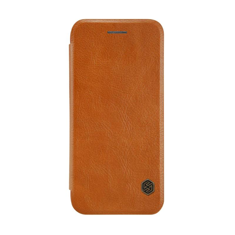 Nillkin Qin Leather Casing for iPhone 7 Plus - Brown