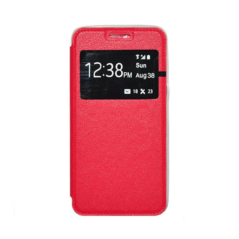OEM Book Cover Leather Casing for Samsung Galaxy J1 - Red