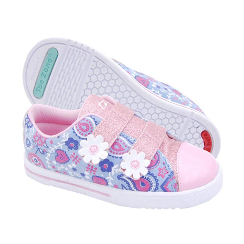 Toezone Kids Audra Ch Sepatu Anak - Blue Pink