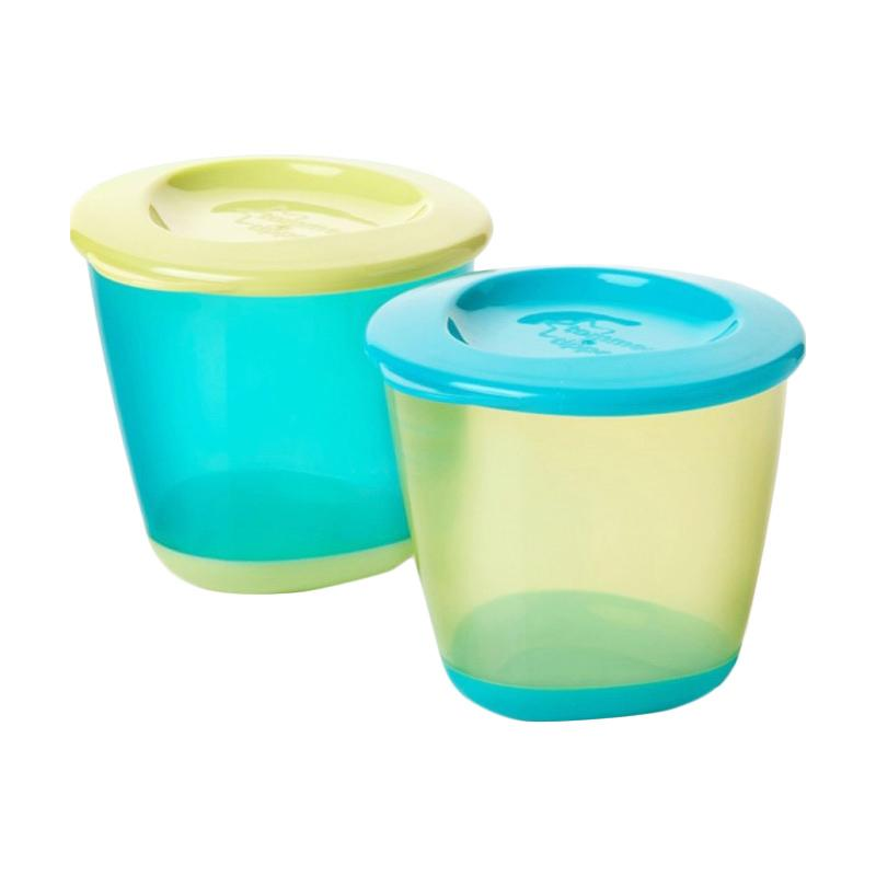 Tommee Tippee 2 Popup 2 Weaning Pots - Green