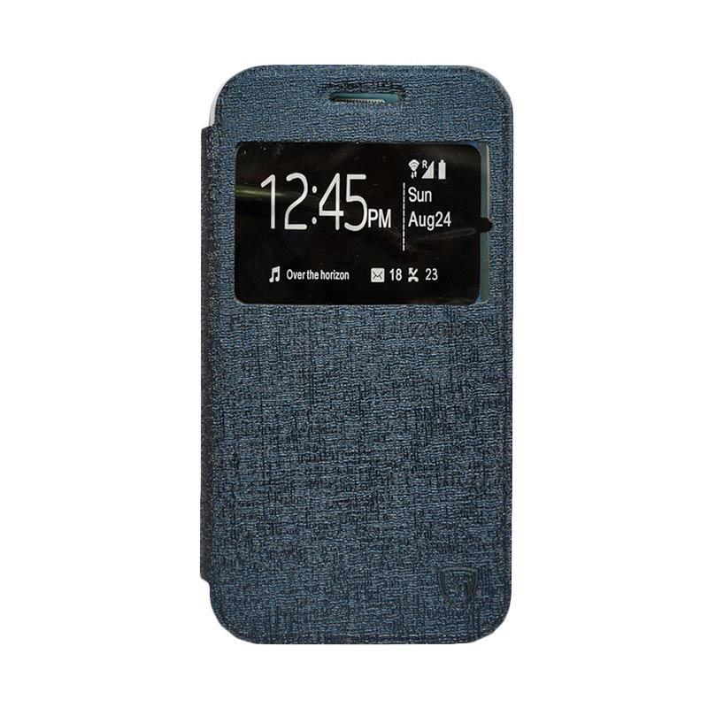 Zagbox Flip Cover Casing for Samsung Galaxy J1 - Biru Dongker