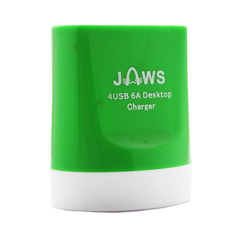 Jaws Fast Charging Desktop Charger - Hijau [4 USB/6.0 Ampere]