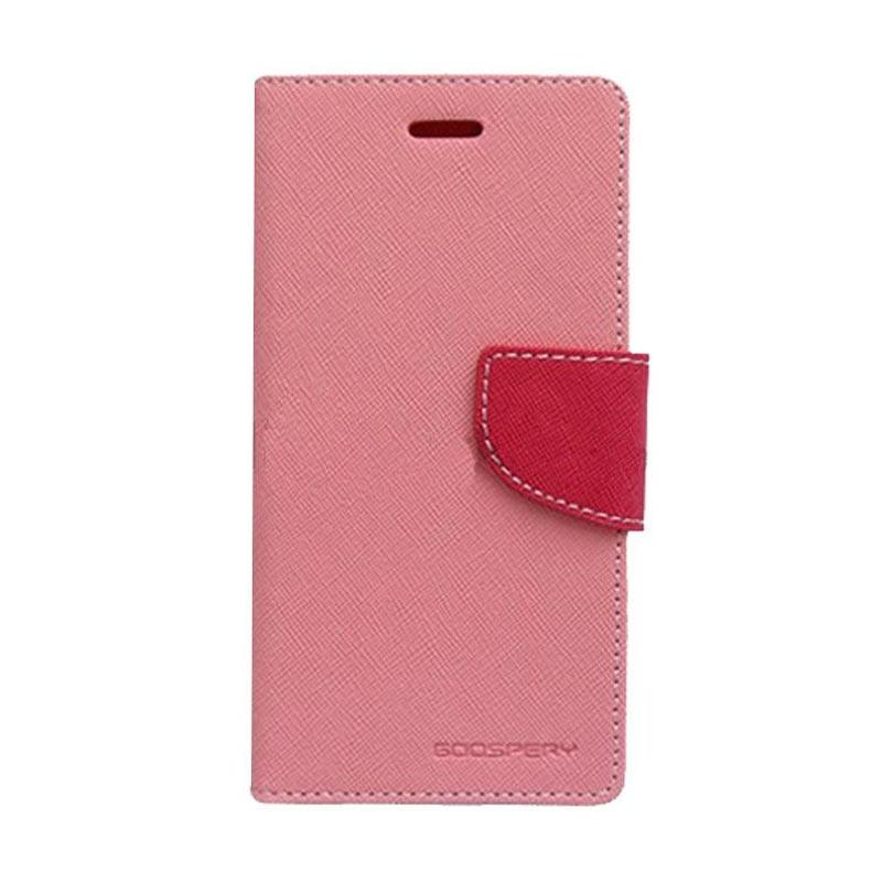 Mercury Fancy Diary Casing for iPhone 7 Plus - Pink Magenta