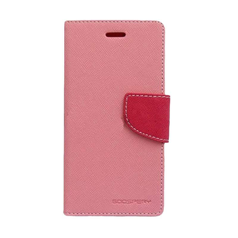 Mercury Fancy Diary Casing for Oppo Find 7 X9077 - Pink Magenta