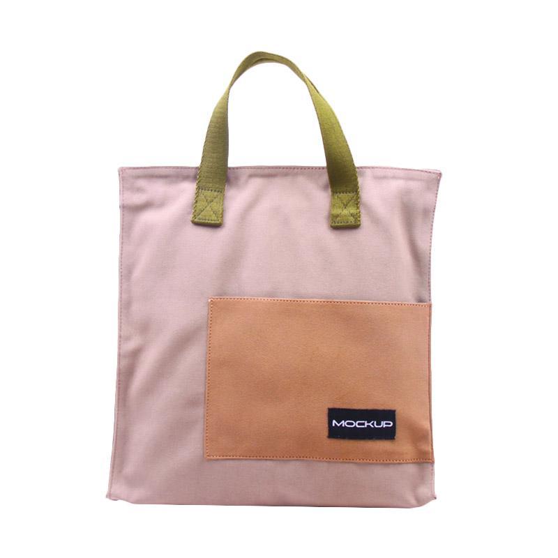 Mock Up Mini Tote Bag Mockup BGO/11 Tas Unisex - Khaki