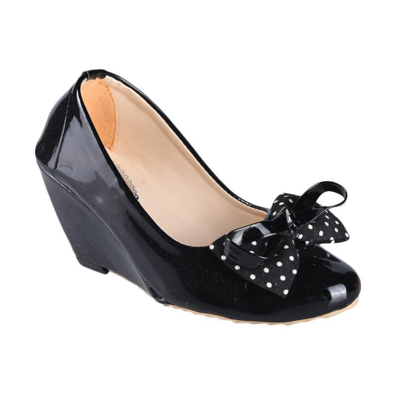 Panda Style Sepatu SN-098B Wedges Wanita - Hitam