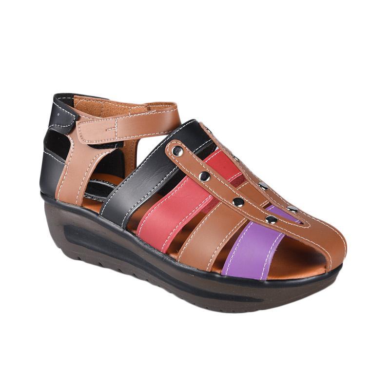 Panda Style SN-261 Sepatu Wedges Wanita - Coklat