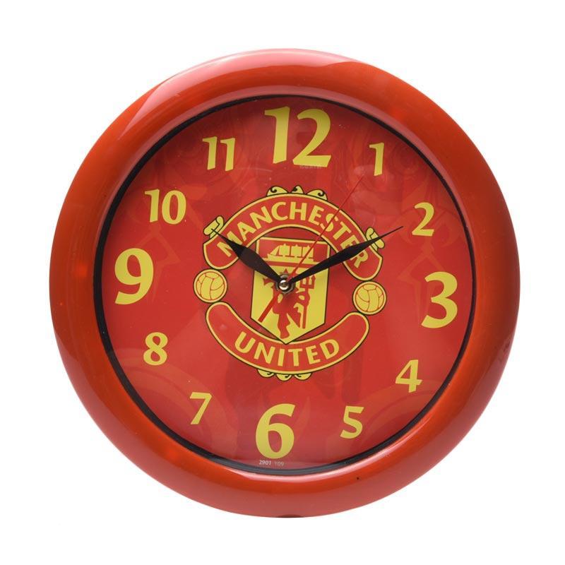 TJ y 09 Motif Manchester United Jam Dinding - Ring Merah [29cm]