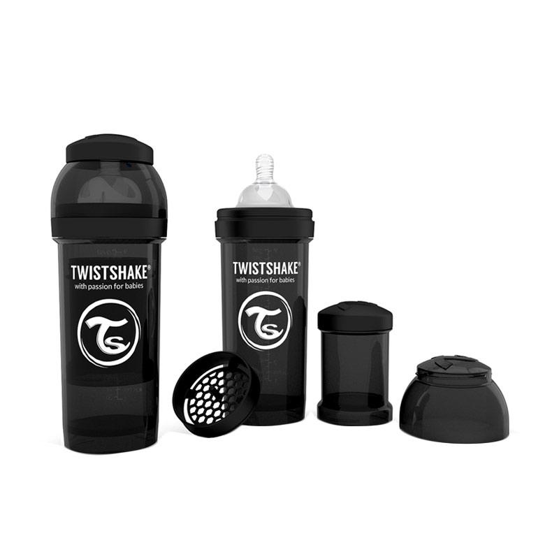 Twistshake Anti Colic Botol Susu - Black [260 mL]