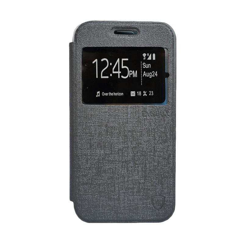 Zagbox Flip Cover Casing for Xiaomi Redmi 1S - Abu-abu