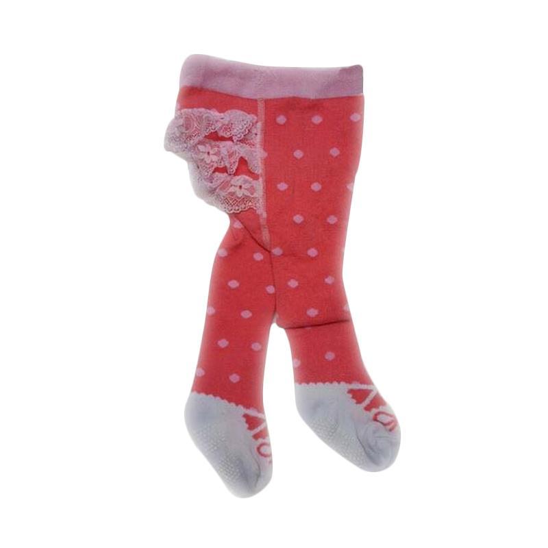 Chloe Babyshop Legging Polkadot Pink Renda E