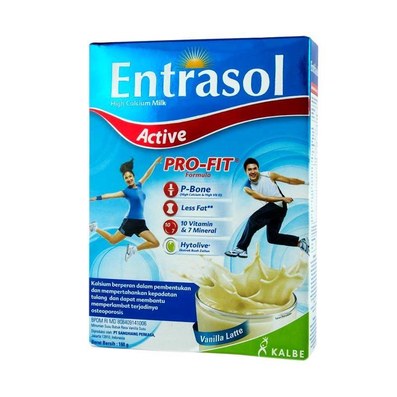 Entrasol Active Vanila Latte Susu Formula [160 g]