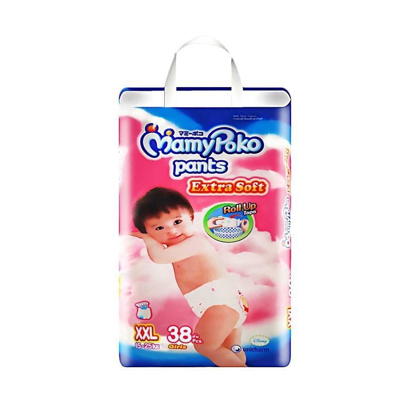 MamyPoko Extra Soft Girls Popok Bayi [XXL 38]