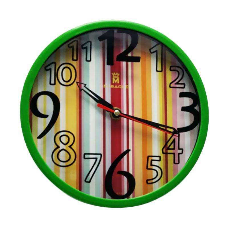 Miracle Minimalis Color Miracle BP03 Jam Dinding - Green