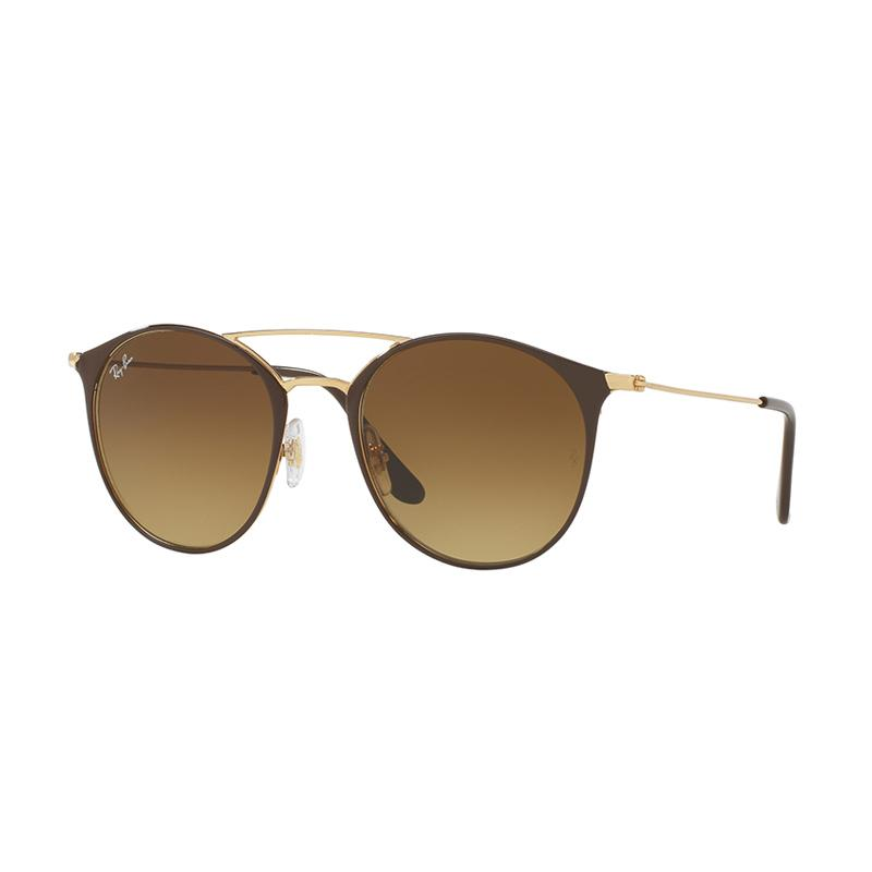 Ray-Ban Rb3546 - Gold Top Brown [900985/Size 49/Brown Gradient]
