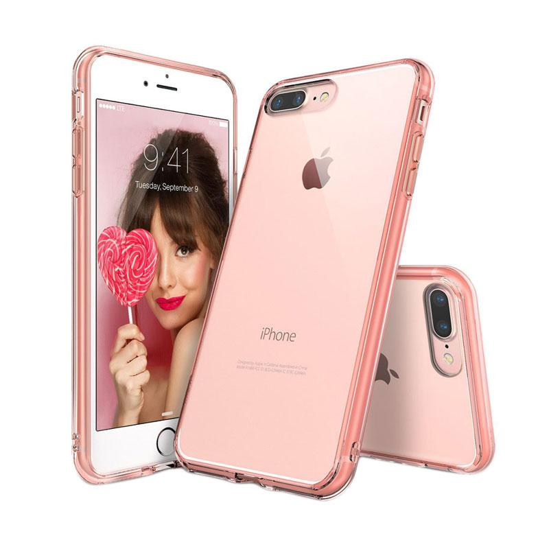 Rearth Ringke Fusion Casing for iPhone 7 Plus - Rose Gold