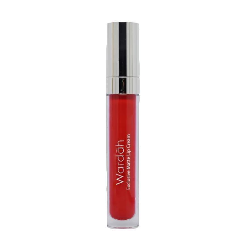 Jual Wardah Exclusive Matte Lip Cream - 06 Feeling Red Online - Harga & Kualitas Terjamin | Blibli.com