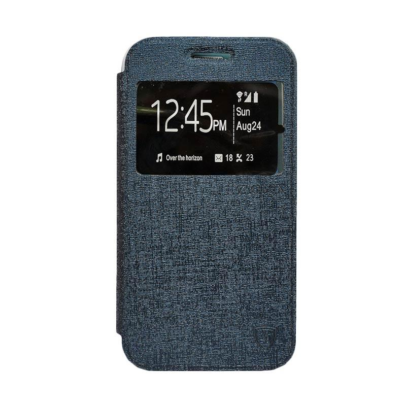Zagbox Flip Cover Casing for Samsung Galaxy J3 - Biru Dongker