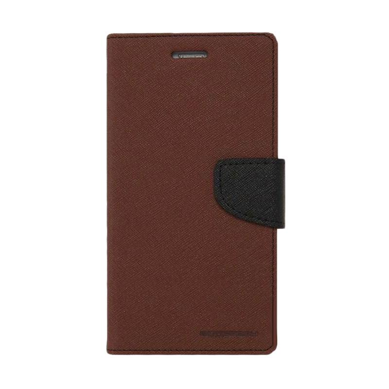 Mercury Fancy Diary Casing for iPhone 7 Plus - Coklat Hitam