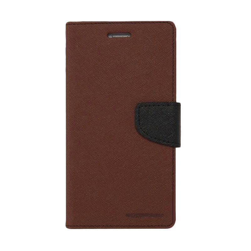 Mercury Fancy Diary Casing for Oppo Find 7 X9077 - Coklat Hitam