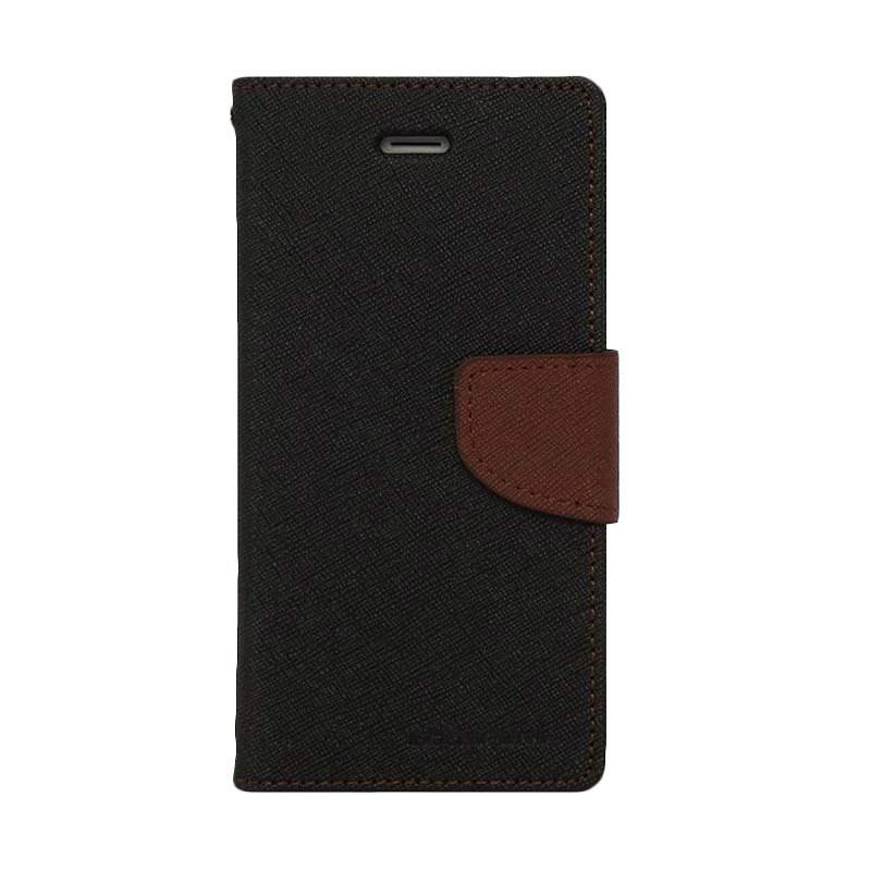 Mercury Fancy Diary Casing for Oppo Find 7 X9077 - Hitam Coklat