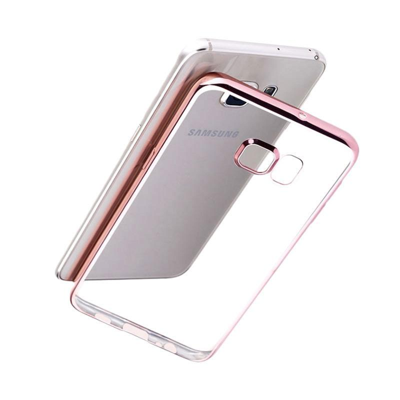 OEM Case Shining Chrome Softcase Casing for Samsung A320 A3 2017 - Rose Gold