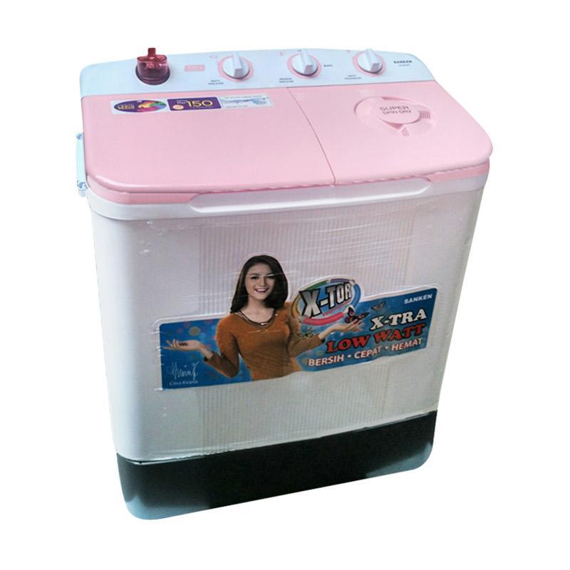 Sanken TW-8630 PK  Mesin Cuci - Pink [Low Watt/2 Tabung/7 kg]