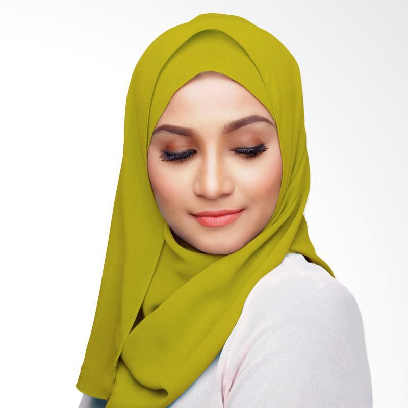 Aitana Hijab Kerudung Polos Segiempat - Hijau Kuning 1