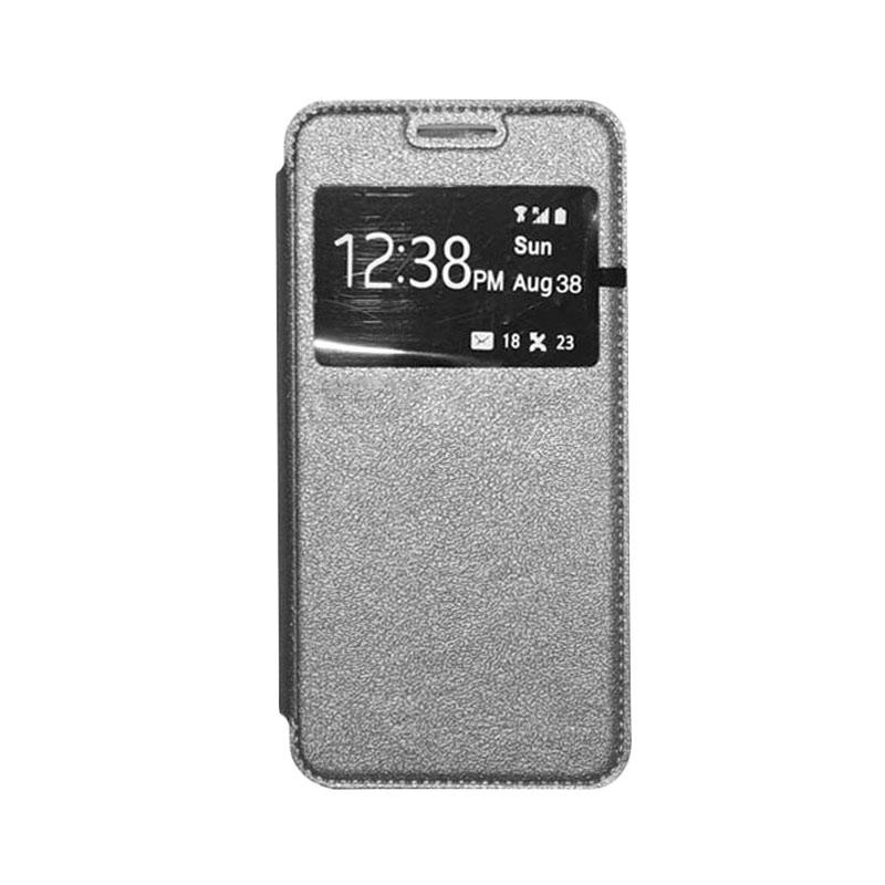 OEM Book Cover Leather Casing for Sony Xperia T3 - Grey
