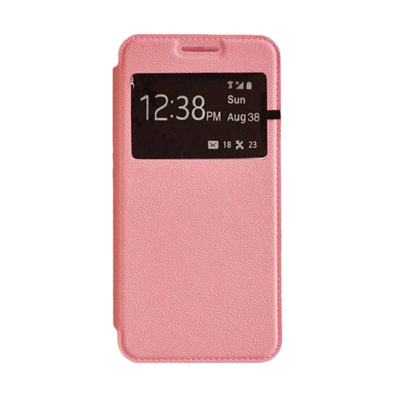 OEM Leather Book Cover Casing for Sony Xperia Z2 - Pink