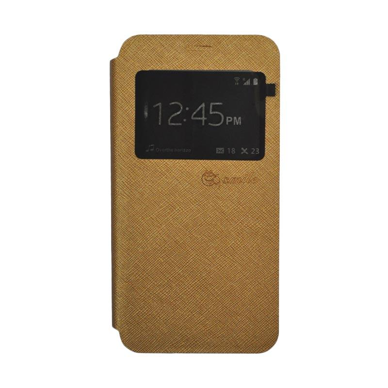 SMILE Standing Flip Cover Casing for Xiaomi Mi 5 - Gold