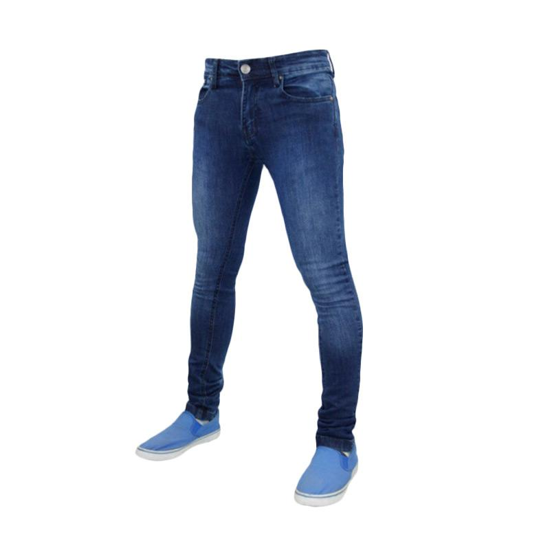 Underpego Jeans Skinny Nakent Pria - Blue Wash