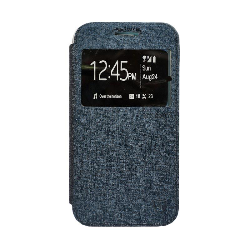 Zagbox Flip Cover Casing for Samsung Galaxy J5 - Biru Dongker