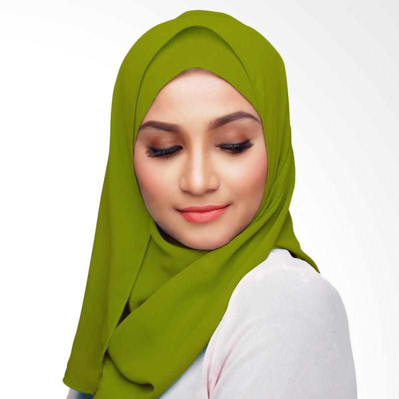 Aitana Hijab Kerudung Polos Segiempat - Hijau Kuning 2