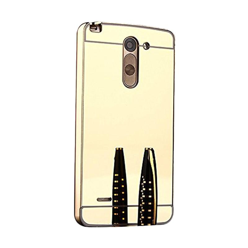 Bumper Case Mirror Sliding Casing for LG G4 - Gold
