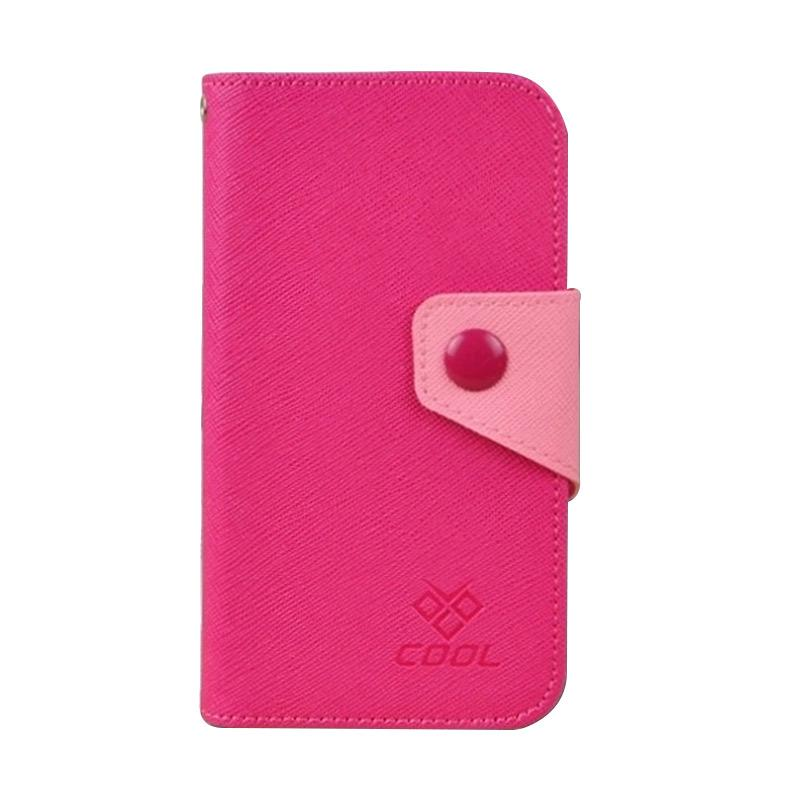 OEM Rainbow Flip Cover Casing for Acer Liquid E3 - Merah Muda
