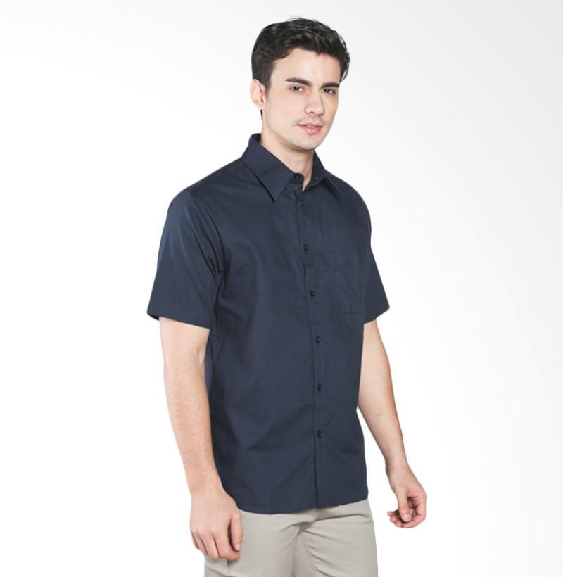 A&D MS 1516-479H Fashion Short Sleeve Mens Shirt - Navy
