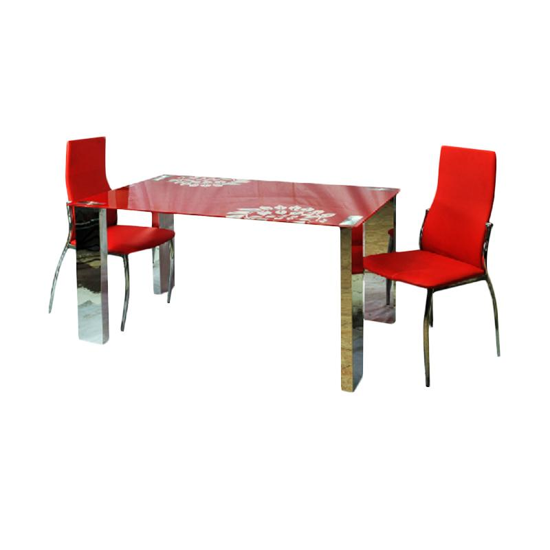 Best Furniture IMP-DS403 Minimalis Meja Makan - Red [140 x 80 cm]