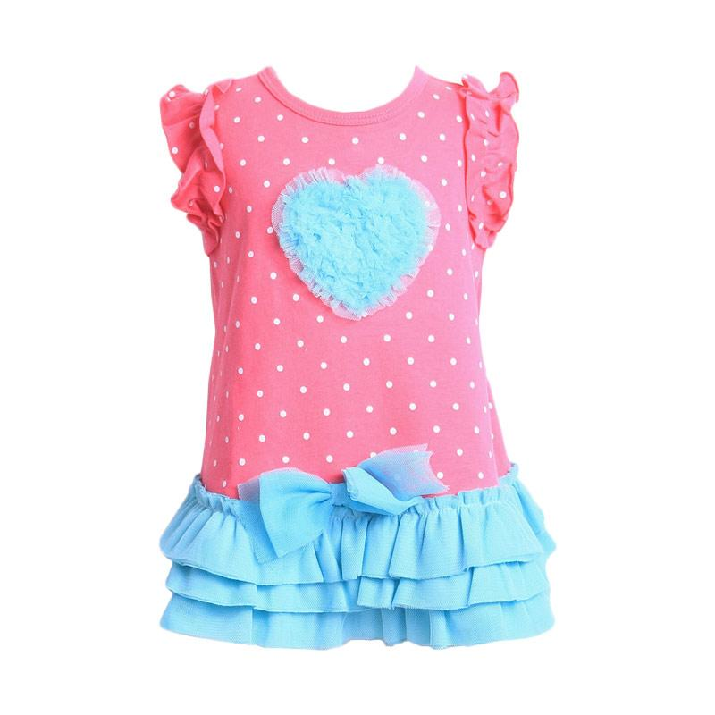 Chloebaby Shop F906 Dress Love Tutu - Fuschia