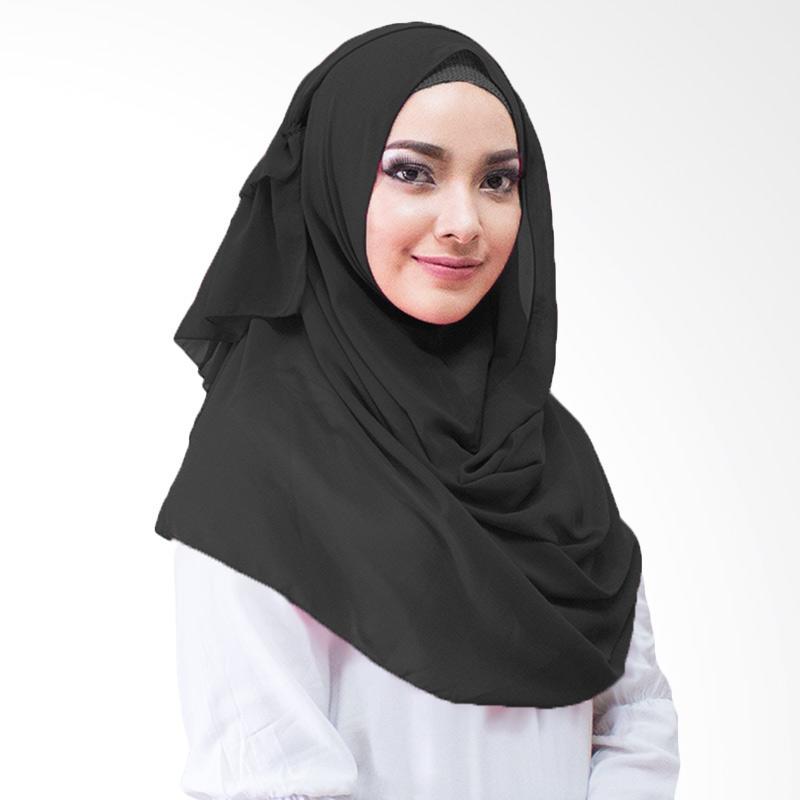 Milyarda Hijab Ravika Kerudung Instan - Hitam