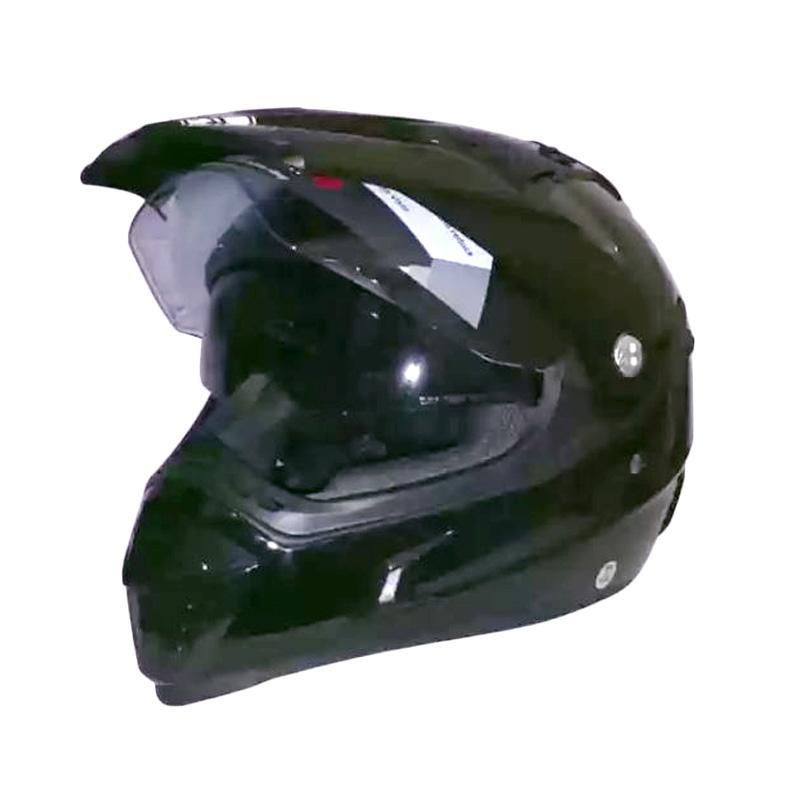 harga Snail MX-311 Double Visor Helm Motocross - Hitam Clear Blibli.com