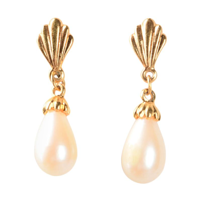 1901 Jewelry GW.839.HR13 Pearl Clamp Earring Giwang - Gold