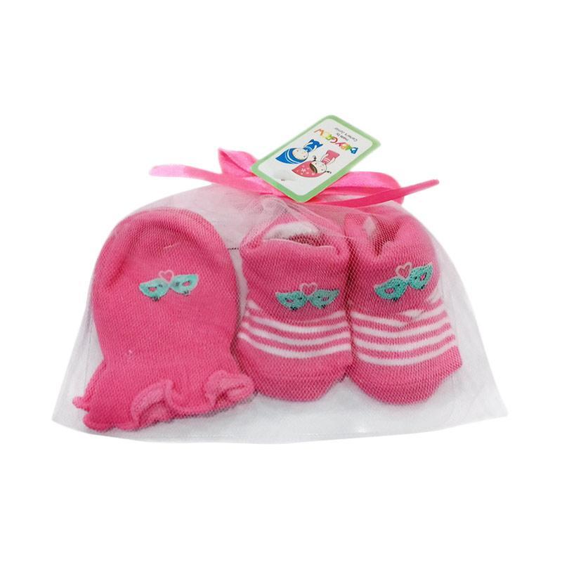 Chloebaby Shop S204 Mitten Botties Bird Love Set Sarung Tangan & Kaos Kaki