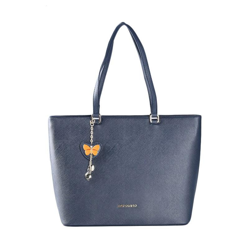 Les Catino Monterey Tote - Navy Blue Tote Bags