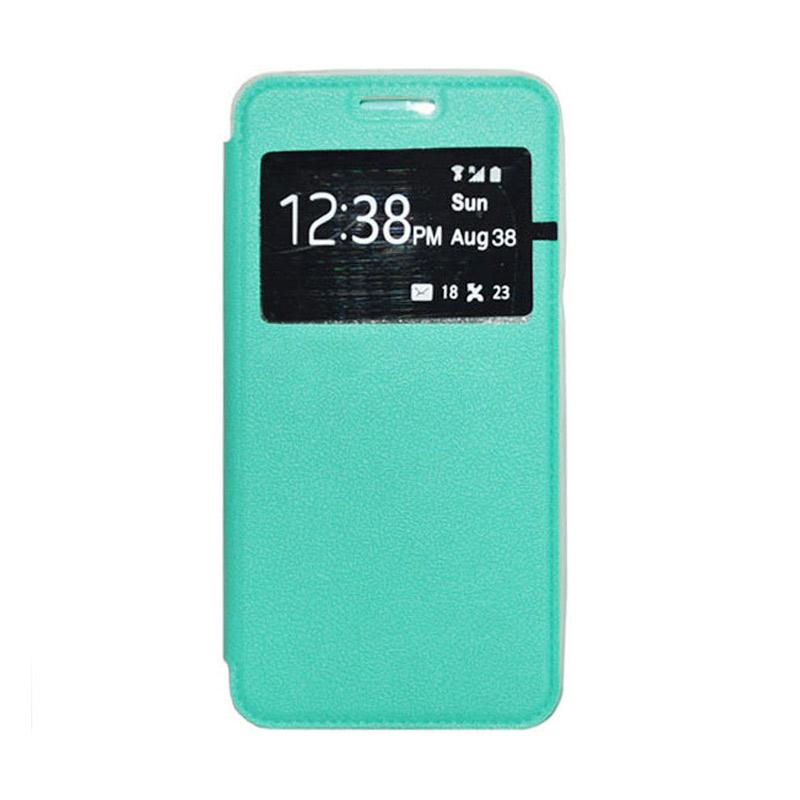 OEM Leather Book Cover Casing for Sony Xperia T3 - Green