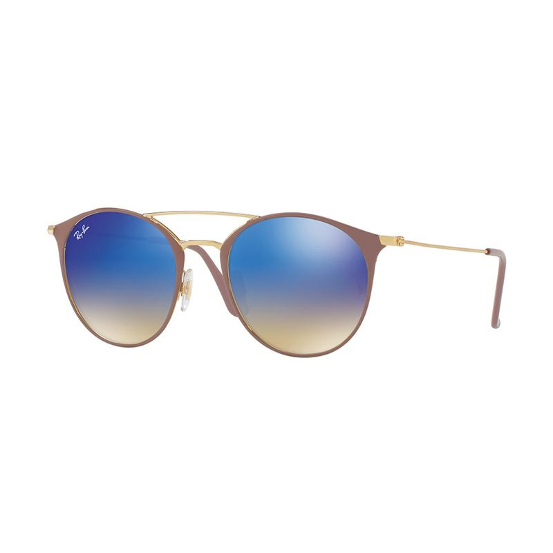Ray-Ban Rb3546 - Gold Top Beige [90118B/Size 49/Blue Flash Gradient]