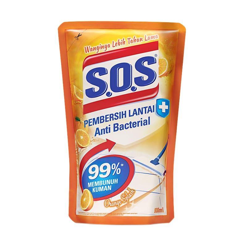 SOS Pembersih Lantai Orange Splash Refill - Orange [800 mL]