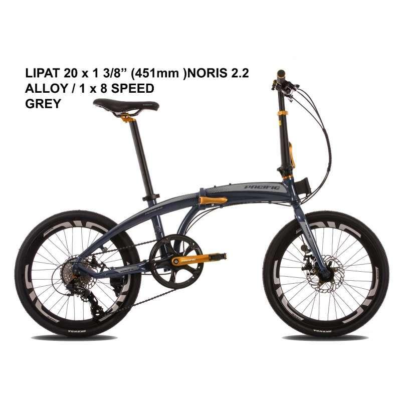 Pacific Noris 2 2 Sepeda Lipat 20 Inch 8 Speed